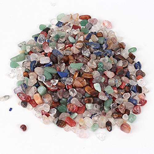 Shiny Stone Pierres décoratives en cristal pour aquarium, gravier de poisson, pierres décoratives pour bricolage, maison, jardin, décoration de cadeaux (cristal coloré, 7–9 mm)