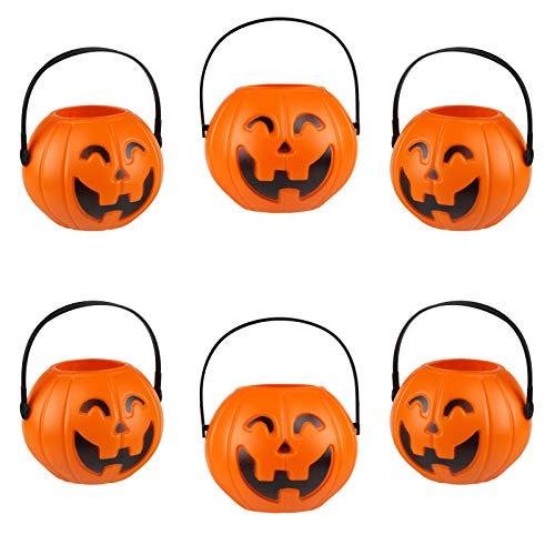 Kesote Halloween Kürbis Eimer, 6 Stück Süßigkeiten Eimer Halloween Party Deko