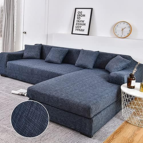 WXQY Fundas Estampadas elásticas Antideslizantes para sofá Funda de sofá para Mascotas Esquina en Forma de L Funda de sofá Antideslizante A4 1 Plaza