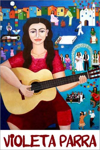 Posterlounge Cuadro de metacrilato 40 x 60 cm: Violeta Parra de Madalena Lobao-Tello