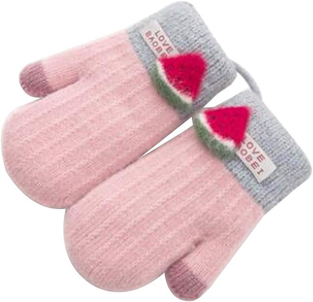 Lovely Knitted Baby Mittens Warm Winter Children Mittens Baby Gloves #20