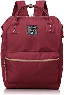 DeLamode Men Classic an Oxford Cloth Student Bags Mang Color Shoulder ello Backpack AT-B0193A Big-Wine Red