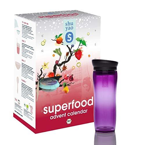 Shuyao Bio Superfood und Tee Adventskalender 24x Tee und Superfood (violett)