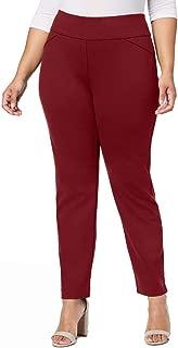 Charter Club Womens Plus Size Ponté-Knit Pants (Marooned, 22W)