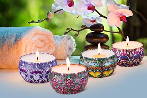 Yoga Aromatherapy Scented Candles Gift Set