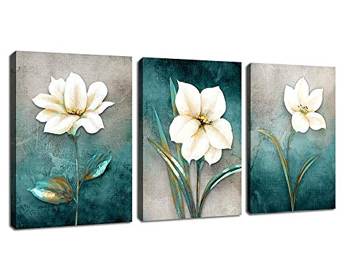 Canvas Wall Art Green Leaf Simple Life Painting 12' x 16' x 3...
