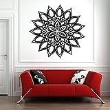 Mandala pared calcomanía mandala flor bohemia flor mandala pared pegatina vinilo yoga estudio pared pegatina sala de estar dormitorio decoración