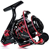 Sougayilang Spinning Reels Ultra-Weight, 6.2: 1 High Speed Gear Ratio, Metal Frame and Rotor, 12 + 1 Shielded BB, Smooth Powerful Freshwater and Saltwater Spinning Fishing Reel(SD-4000-Red)