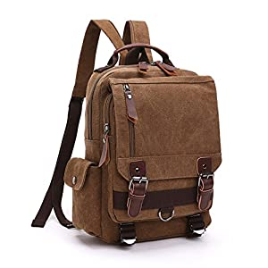 LOSMILE Mochila Hombres Mujer Lona Bolso de Bandolera La Bolsa de Mensajero Bolsa de Lona Bolsa de Hombro Messenger Bag…