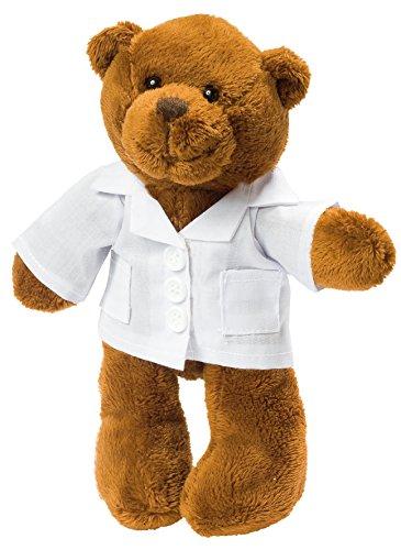 Stofftier Plüschtier Kuscheltier Teddybär Bär mit Kittel, Kasack, Arzt, Doktor, Medizin