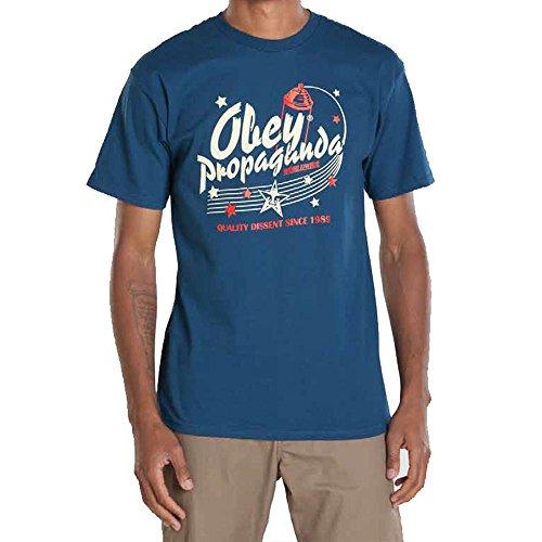 OBEY - Camiseta - para hombre, Unisex niño, Blu - blu