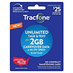 *NEW Plans* Unlimited Talk, Text, 2GB of Data 30-Days of Service Unused Carryover with Active Service Physical Card shipped directly from Tracfone