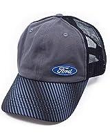Ford Oval Logo Adjustable 6 Panel Baseball Cap, Men Hat Travel Cap Car Racing Motor Hat - Black