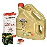 Castrol 10W-40 Öl + HiFlo Ölfilter für Honda XL 1000 V Varadero, 99-02 SD01 SD02 - Ölwechselset inkl. Motoröl, Racing Filter, Dichtring