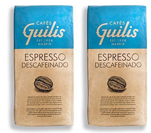 CAFES GUILIS DESDE 1928 AMANTES DEL CAFÉ - Kaffeebohnen Entkoffeiniert Arabica 2 kg