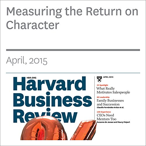 Measuring the Return on Character copertina