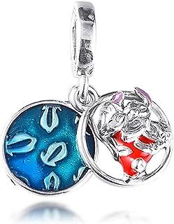 BAKCCI Lilo & Stitch Breloque en argent 925 pour bracelets Pandora originaux
