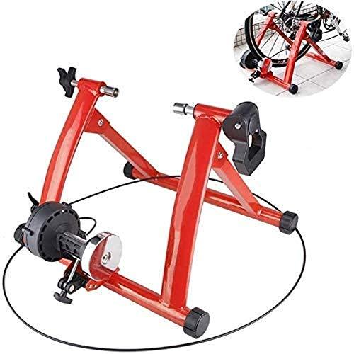 Cubierta de bicicletas Trainer soporte bicicleta estática soporte carretera de montaña plegable portátil de ciclo magnético del volante grada 6 Resistencia de reducción de ruido Configuración - Red