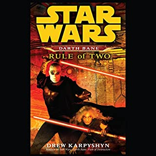 Rule of Two     Star Wars Legends (Darth Bane)              Auteur(s):                                                                                                                                 Drew Karpyshyn                               Narrateur(s):                                                                                                                                 Jonathan Davis                      Durée: 10 h et 12 min     78 évaluations     Au global 4,9
