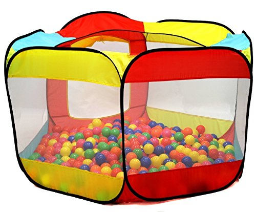 Kiddey Ball Pit Play Tent for Kids - 6-Sided Ball Pit for Kids Toddlers and Baby - Fill with Plastic...