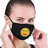 Jopath Gelbe Karikatur Smiley Dust Face Cover Waschbar Wiederverwendbar, Staubdicht, Radfahren