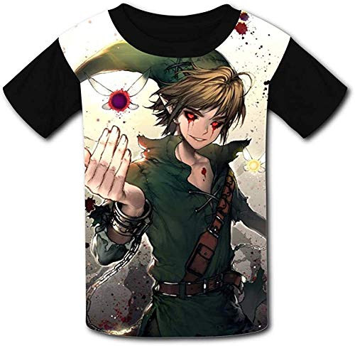 guoweiweiB T-Shirts Hemden Jungen Tops Li-nk Navi The Lege-nd of Ze-lda Unisex Kids T-Shirts 3D Printed Fashion Youth T Shirt Tees for Boys Girls