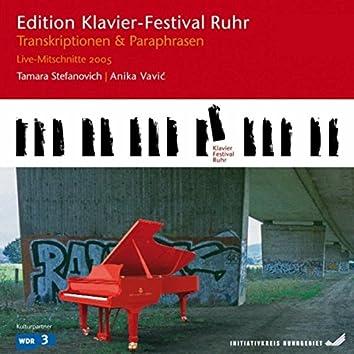 Transcriptions & Paraphrases: Staud - Stroppa - Höller (Edition Ruhr Piano Festival, Vol. 9) (Live)