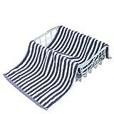 Toalla - de Fibra Larga hogar Sencillo de algodón a Rayas Toalla de Cara Toalla de baño (Color : Sapphire Blue, Size : 34cm*74cm)