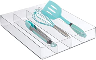 mDesign Rangement tiroir avec 4 Compartiments – Grand separateur tiroir en Plastique – Organisateur de tiroir pour Couvert...
