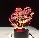 7 Coloré 3D Visuel Led Rugby Veilleuse Pour Enfants Touch Usb Football Américain Modélisation Lampe De Bureau Bébé Sommeil Luminaire Décor