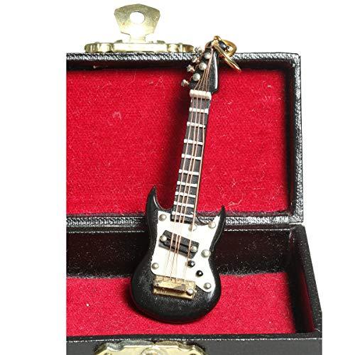 /N Softwarego 81023 - Llavero de guitarra eléctrica (7 cm), color negro