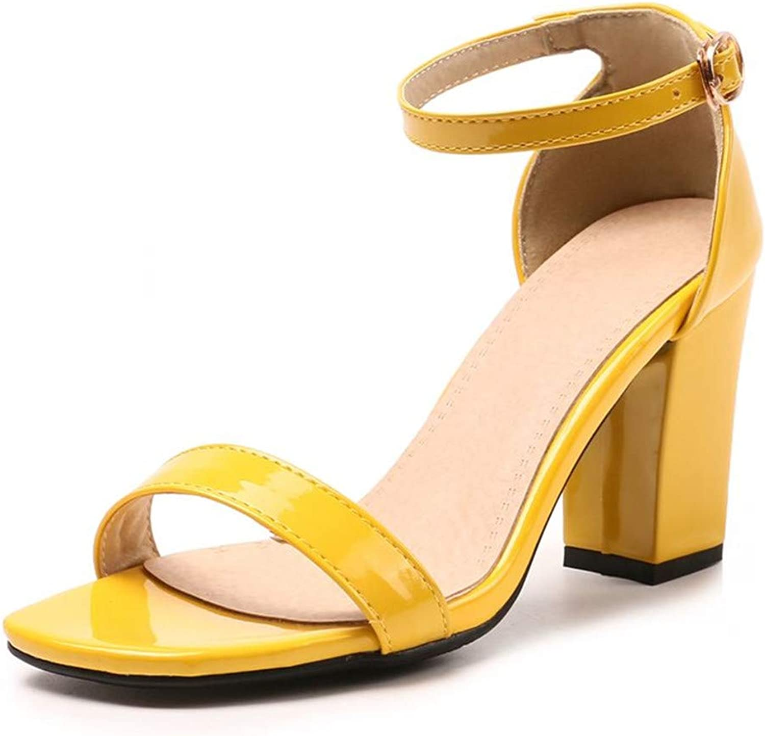 Women High Heels Sandals Square Heels Summer shoes Party Office Fashion Footwear