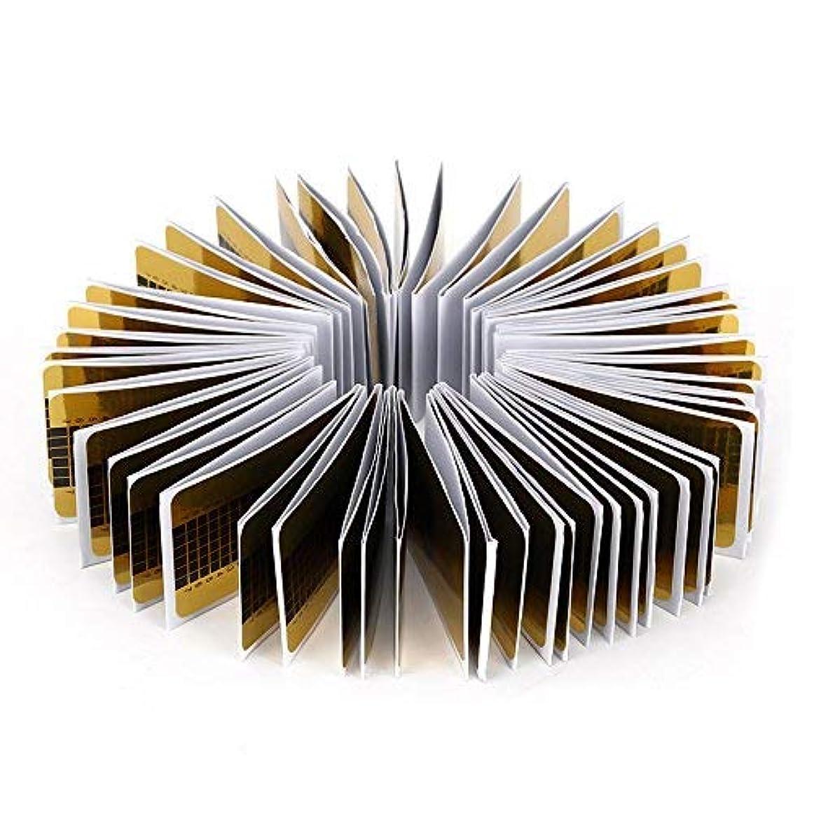フリンジ高音間接的Aomgsd ネイルフォーム 長さだしジェルネイルフォーム プロ用 使い捨て 紙製 100枚入れ