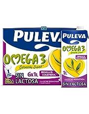 Puleva Omega 3 Leche sin Lactosa, 6 x 1L