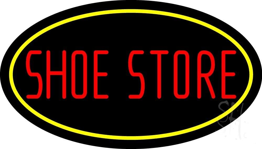 Shoe Store With Oval LED Neon Sign Squar mart Ranking TOP1 x - 37 Black inches 20