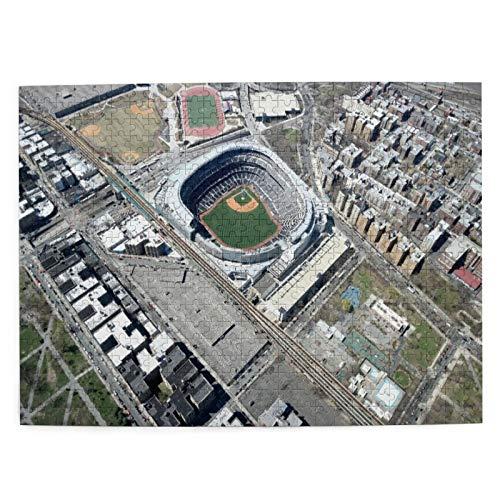 DAHALLAR Mittlere Größe Jigsaw-Puzzles 500 Stücke,Luft Yankee Stadium New York, Lustig Familienspiel Hängende Heimdekoration,20.4' x 15'