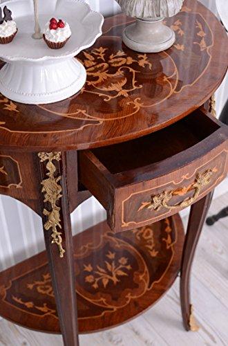 Konsole, Konsolentisch, Beistelltisch, Tisch, Wandkonsole im angesagten französischem Barockstil in verspielter Optik aus Holz gefertigt - Palazzo Exclusive