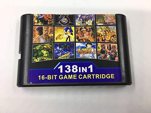 livraison gratuite Cartouche de jeu 138 en 1 carte de jeu 16 bits pour Sega Mega Drive Genesis