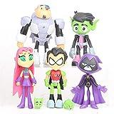 XBT Figura De Acción De Teen Titans PVC Chico Bestia Cyborg Starfire Cuervo Robin Figura PVC Modelo De La Muñeca De Los Niños Juguetes Figuras Decoración De La Torta 7pcs / Set