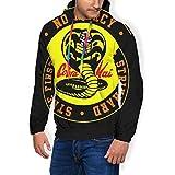 Cobra Kai Snake Logo No Mercy - Sudadera con capucha para hombre Negro Negro ( L