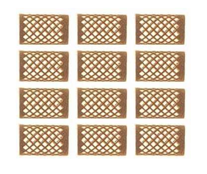 rouleaux velours brun 28m ml court x12