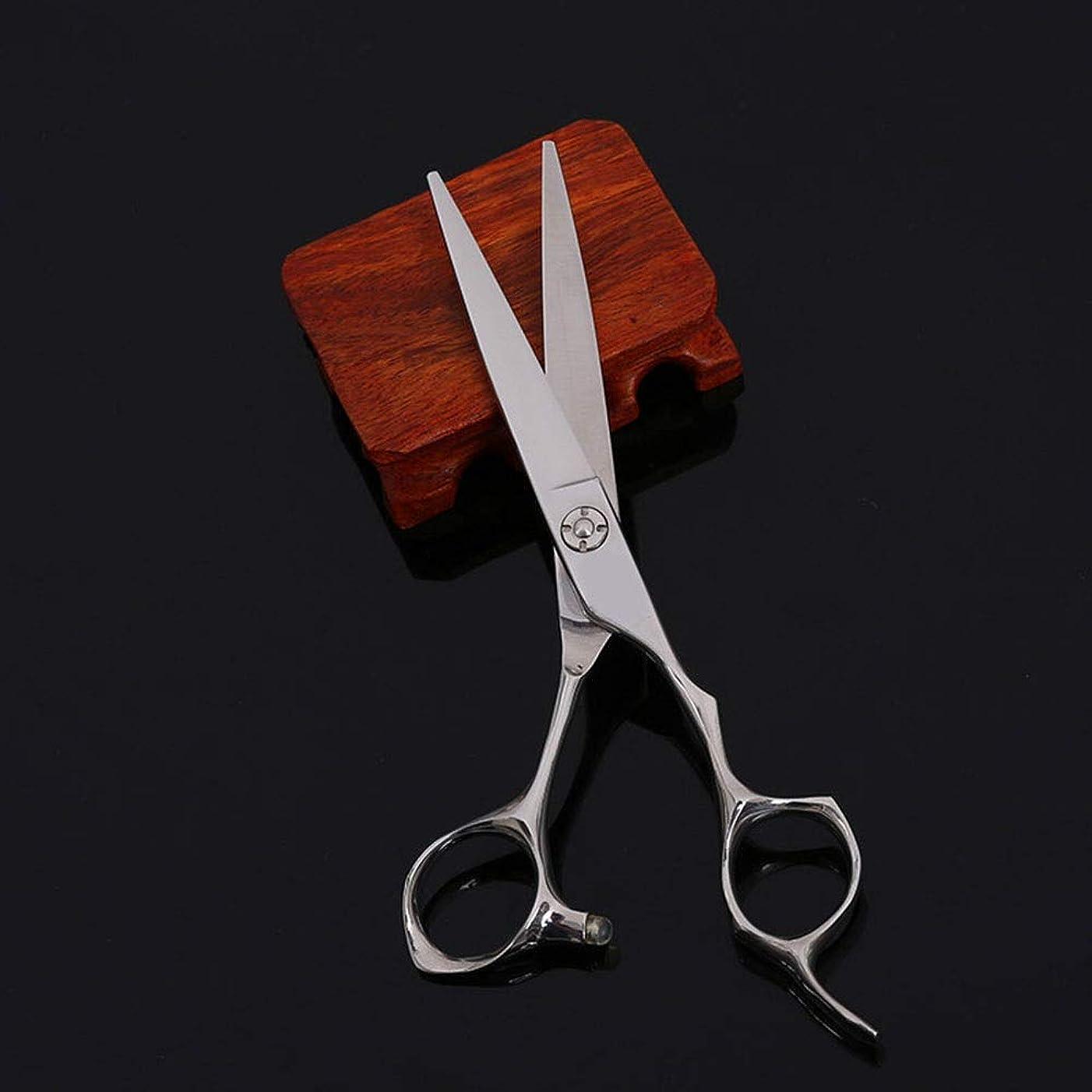 理髪用はさみ 6インチの理髪師の専門の散髪の平らなはさみ、ヘアーサロンおよび家の理髪用具の毛の切断はさみのステンレス製の理髪師のはさみ (色 : Silver)