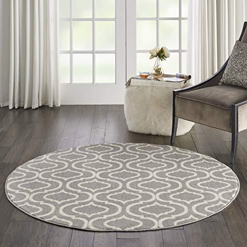 Marca de Amazon - Movian Timok, alfombra redonda, 160 x 160 cm (diseño geométrico)