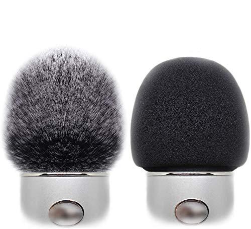 2 Pack Professional Microphone Furry Windscreen Muff Wind Cover with Foam Microphone Windscreen for Blue Yeti