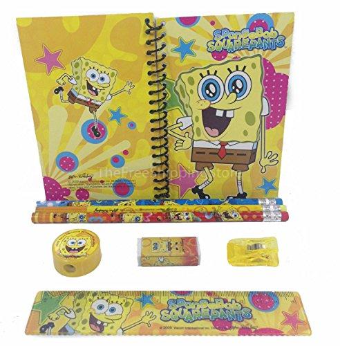 SpongeBob Squar Pants Stationary Set for Kids Yellow