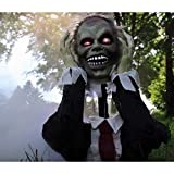 Haunted Hill Farm 22 in. Pop-Up Animatronic Ghoul, Indoor/Outdoor, Flashing Red Eyes, Battery-Operated, HHFJZOMB-1LSA Halloween Decoration, Color 6
