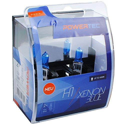M-Tech ptzxb1 de Duo Aspect H1 Xenon Ampoule halogène 55 W 12 V, bleu, Nombre 2