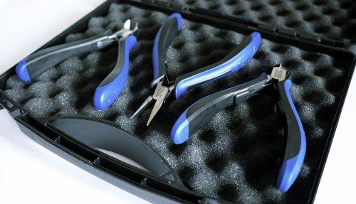 Zangenset   schmitz 8483HS22   3 Zangen in einem Koffer   ESD/EGB Sicher - Dissipative - Ableitend   Durchgestecktes Zangengelenk für den Profi   Made in Germany - Solingen