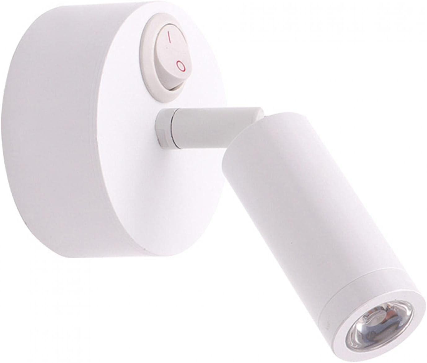 MOVKZACV Lámpara LED de lectura RV – Luces LED de 12 voltios Interior Giratorio Aplique de Pared Lámpar (Luz Blanca)