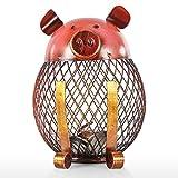 TOOARTS Salvadanai Decorativi, Soprammobili, Piggy Bank in Ferro Battuto per Bambini Giocattolo con Monete, Scatola Salvadanaio per Decorazione o Regalo